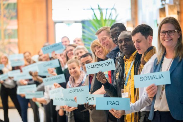 El personal directivo de los programas por países del Servicio Mundial de la FLM se reúne con los colegas de la Oficina de la Comunión en Ginebra en mayo de 2019. Fotografía: FLM/Albin Hillert